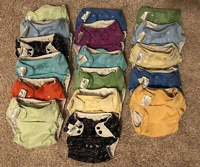 Lot of 17 BumGenius 4.0 Pocket One Size Cloth Diapers