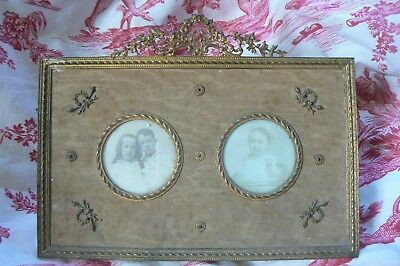 Gorgeous Quality 19Th C French Bronze Gilt Empire Portrait Picture Easel Frame