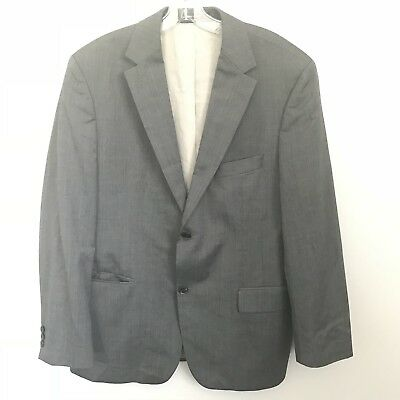 ece158857 HUGO BOSS SUIT Jacket Size 42 S Super 120 Gray 2 Button Closure ...