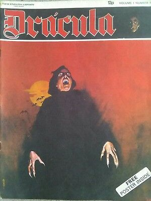 12 issues of Dracula magazine from 1971 (inc vol. 1, no 1)