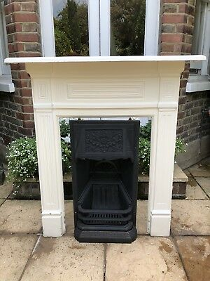 Lovely late Victorian cast iron fireplace from Fulham townhouse bedroom