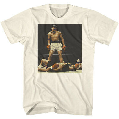 Muhammad Ali Tall T-Shirt Standing Over Liston White Tee