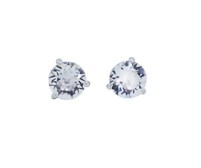 6a72bd003 SWAROVSKI SOLITAIRE CLEAR Crystal Rhodium Pierced Earrings 1800046 ...