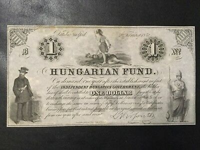 1952 Hungary Paper Money - One Dollar Uniface Banknote !