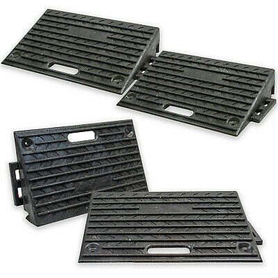 4X Rubber Ramps Kerb Threshold Cars Caravans Wheelchair Mobility Access Pass NEW