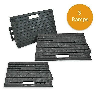 Pack of 3 - HEAVY DUTY Kerb Ramps (Perfect for HGV use)