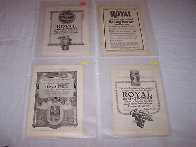 Antique 1907 1911 1911 1913 ROYAL BAKING POWDER Ads 4 Full Page Ads