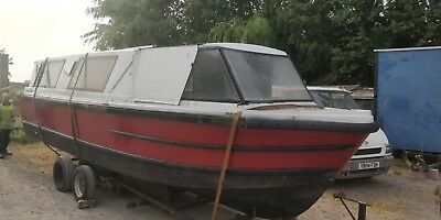 Trent River Canal boat Canal Barge 24 foot Project boat
