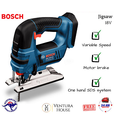 Bosch Cordless Jigsaw 18V Lithium Ion Variable Speed One - Hand Skin Only - NEW