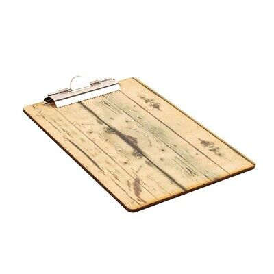 Olympia Wood Effect Menu Clipboard A4 (Next working day UK Delivery)