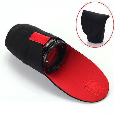 Waterproof Neoprene DSLR Camera Large Lens Bag Soft Pouch Protector Case Cover L