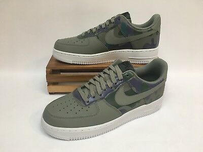 best sneakers 2137f efa77 Nike Air Force 1 AF1 07 LV8 Dark Stucco Camo Shoes 823511-008 Mens