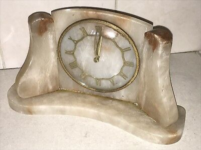 Vintage Deco style Bakelite METAMEC Rare Heavy  Mantle Clock