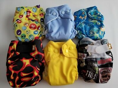 Lot of 6 Boys New Handmade Newborn Diapers (6-14 lbs)