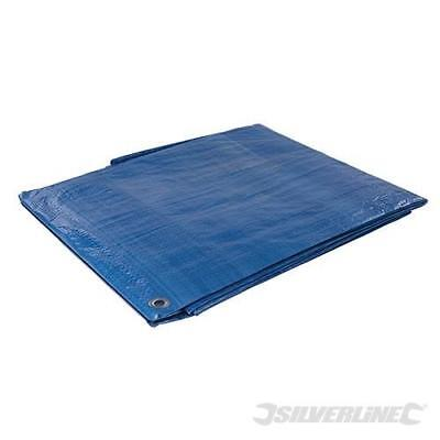 7 x Sizes of Heavy Duty Tarpaulin Blue Waterproof Strong Cover Ground Sheet Tarp