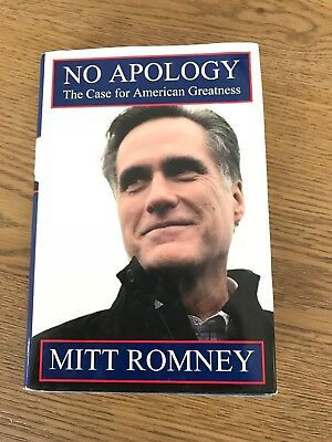 """Mitt Romney Signed """"No Apology"""" Presidential candidate Senator Governor Olympics"""