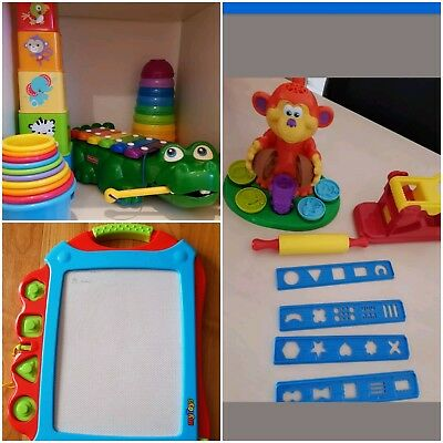 Stapelturm Baby Kleinkind Set  Xylophon Fisher Price Play-Doh Affe Presse