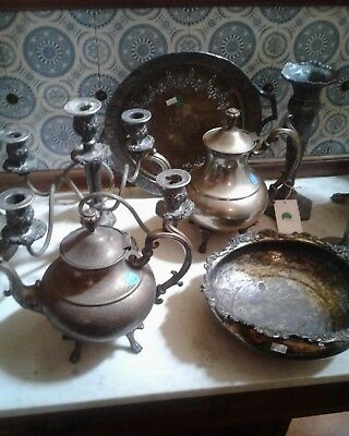 7 pieces of silver plate PT7001