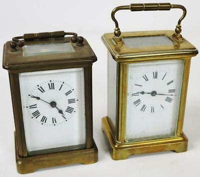 Two Antique French Bronze Desk Mantle Carriage Clock Spairs or Repair