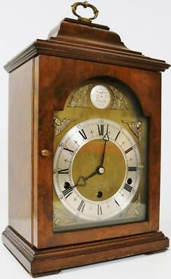 8 Day Elliott Burr Walnut Westminster & Whittington Chime Mantel Bracket Clock