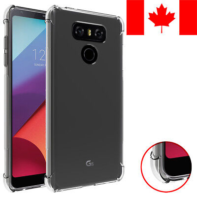 Rugged Shockproof Clear Transparent Soft Case Cover For Lg G6