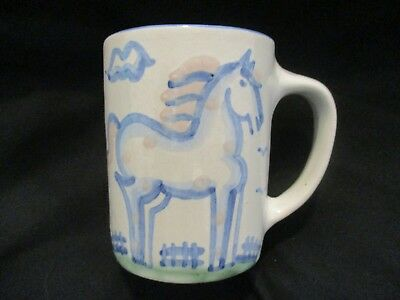 M.A. Hadley Art Pottery Hand Painted Horse Mug, THE END