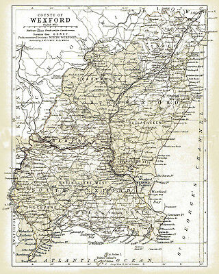 An Enlarged 1897 Map Of County Wexford Ireland 7 50 Picclick Uk