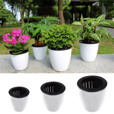 Self-watering Plant Flower Detachable Pot Plastic Planter Garden Home Decor gift