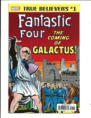 True Believers: Fantastic Four -The Coming Of Galactus # 1 (Sept 2018), Nm New
