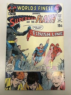 World's Finest #199 Superman vs Flash Race Neal Adams Cover Early BRONZE KEY