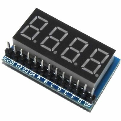 LC Technology Red 7 Segment Parallel LED Module Display-Dig 4-bit Flux Workshop