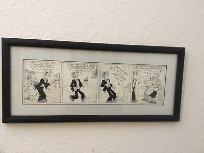 BLONDIE -Chic Young original pen + ink comic art 1954