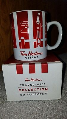 NEW 2016 TIM HORTONS Traveller's Collection OTTAWA Canada Coffee MUG
