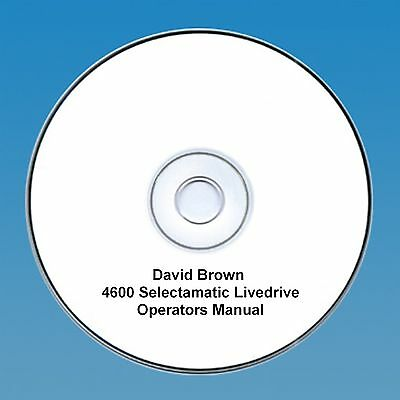 David Brown 4600 Selectamatic Operators Manual PDF CD