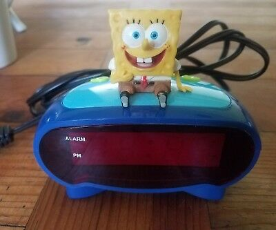 Spongebob Squarepants Digital Alarm Clock 2006 Viacom BC-SBC200 TESTED EXCELLENT