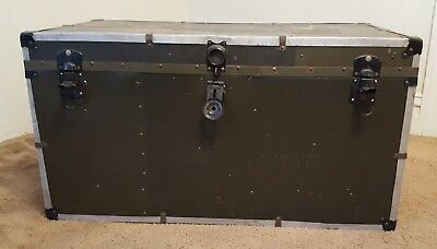 Trunk - Vintage! Possibly Wwii Army Foot Locker - Local Pick Up - Pittsburgh Pa