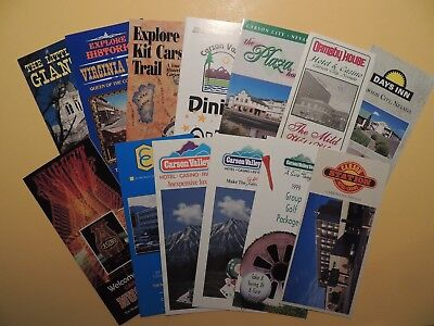 Lot 13 vintage brochures Carson City Gardnerville Nevada Casino Hotels Motels