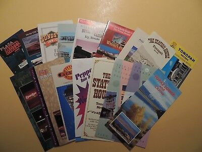 Lot 19 brochures Elko Wendover Tonopah Primm Carson City Nevada Casino Hotels