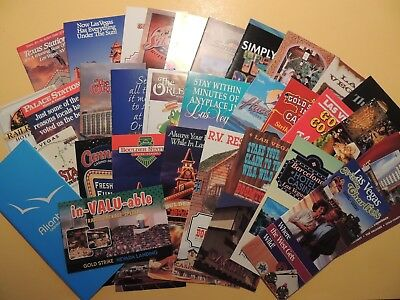 Lot 30 vintage brochures Las Vegas Nevada Local-Oriented Casino Hotels