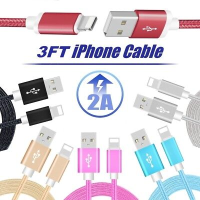 iPhone Charger Cable Usb 3FT Heavy Duty 5 6 7 8 Plus X For Apple PACK OF Cord