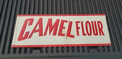 "Rare Vintage Tin Metal Sign ""CAMEL FLOUR"" ADVERTISING TIN SIGN"