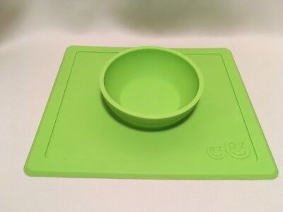 EZ PZ Happy Mat - Green Silicone Toddler Bowl Placemat ~ Suction to table EZPZ