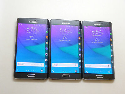 Lot of 3 Samsung Galaxy Note Edge SM-N915T T-Mobile Unlocked Smartphones AS-IS