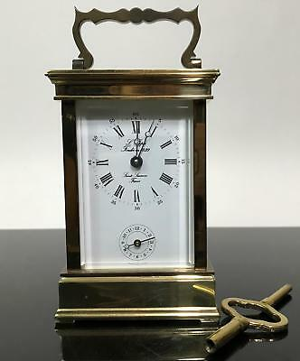 RARE L'Epee 1839 Sainte Luxanne Gold France Shelf Mantle Carriage Clock
