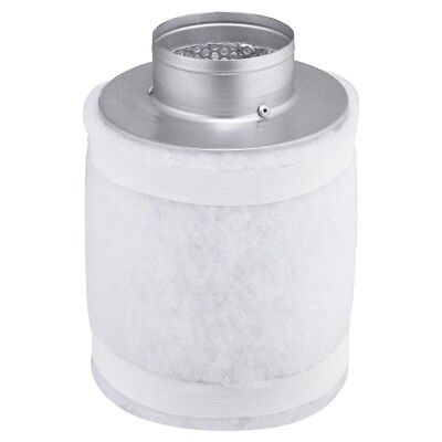 """4"""" 150CFM Hydroponic Air Carbon Filter Odor Control Scrubber for Inline Exhaust"""