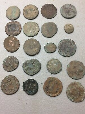 Uncleaned  Roman Coin Lot Ancient From Europe