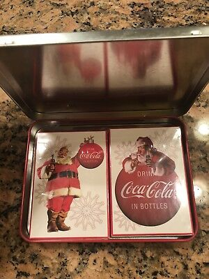 Coca Cola Collectible Playing Cards. 2 Sets In Keepsake Tin