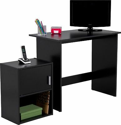 Argos Home Soho Office Desk and Cabinet Package - Black