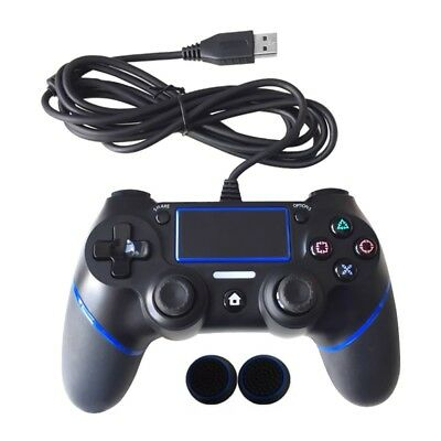 USB Wired Controller Gamepad Joypad for PS 4 Multiple Vibrations Controllers US