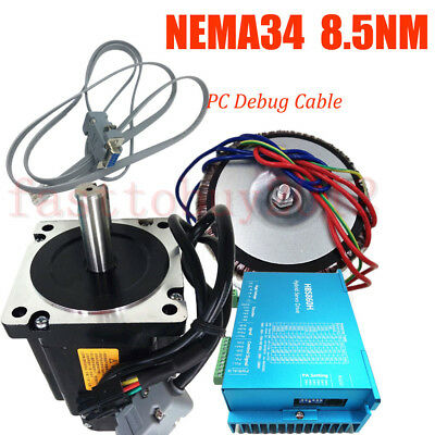 1214oz-in Close Loop Stepper Motor Nema34 8.5NM DSP Drive/Power Supply/PC Cable